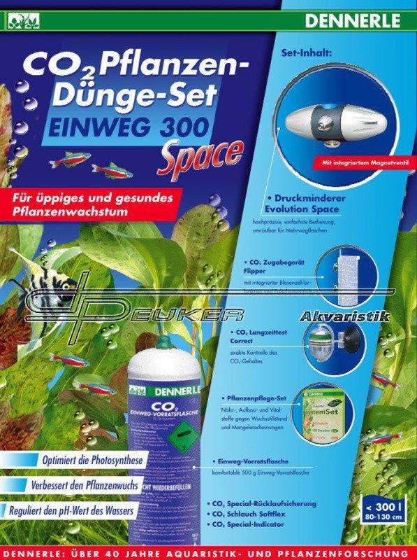 Dennerle Space 300 / jednocestná sada CO2 s elektromagnetickým ventilem