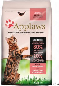 Krmivo APPLAWS Dry Cat Chicken & Salmon 400g