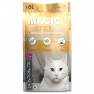 Kočkolit MAGIC LITTER Bentonite Ultra White Baby Powder 5l