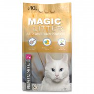 Kočkolit MAGIC LITTER Bentonite Ultra White Baby Powder 10l